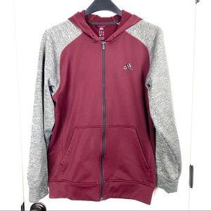 Adidas medium full zip hoodie